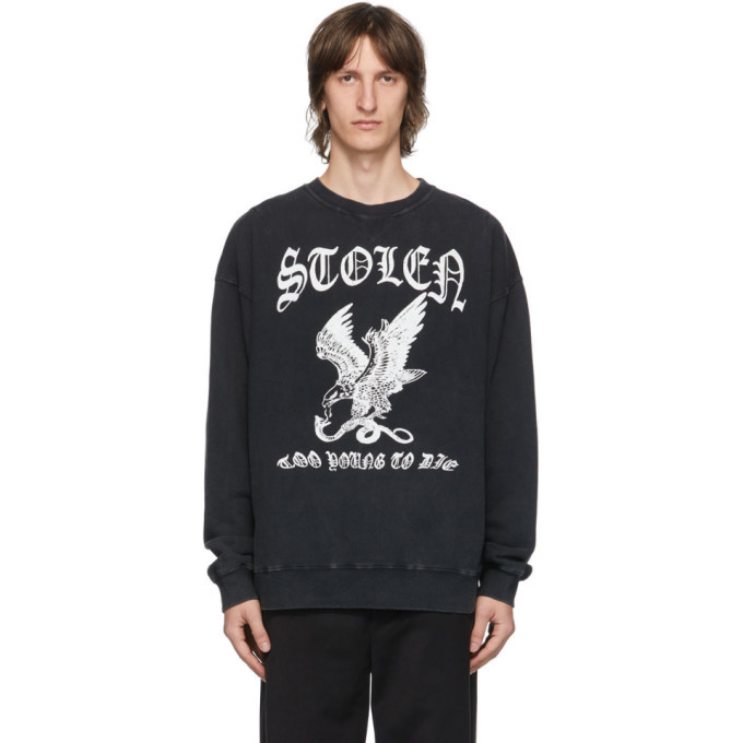 Photo: Stolen Girlfriends Club Black Eagle Strike Sweatshirt
