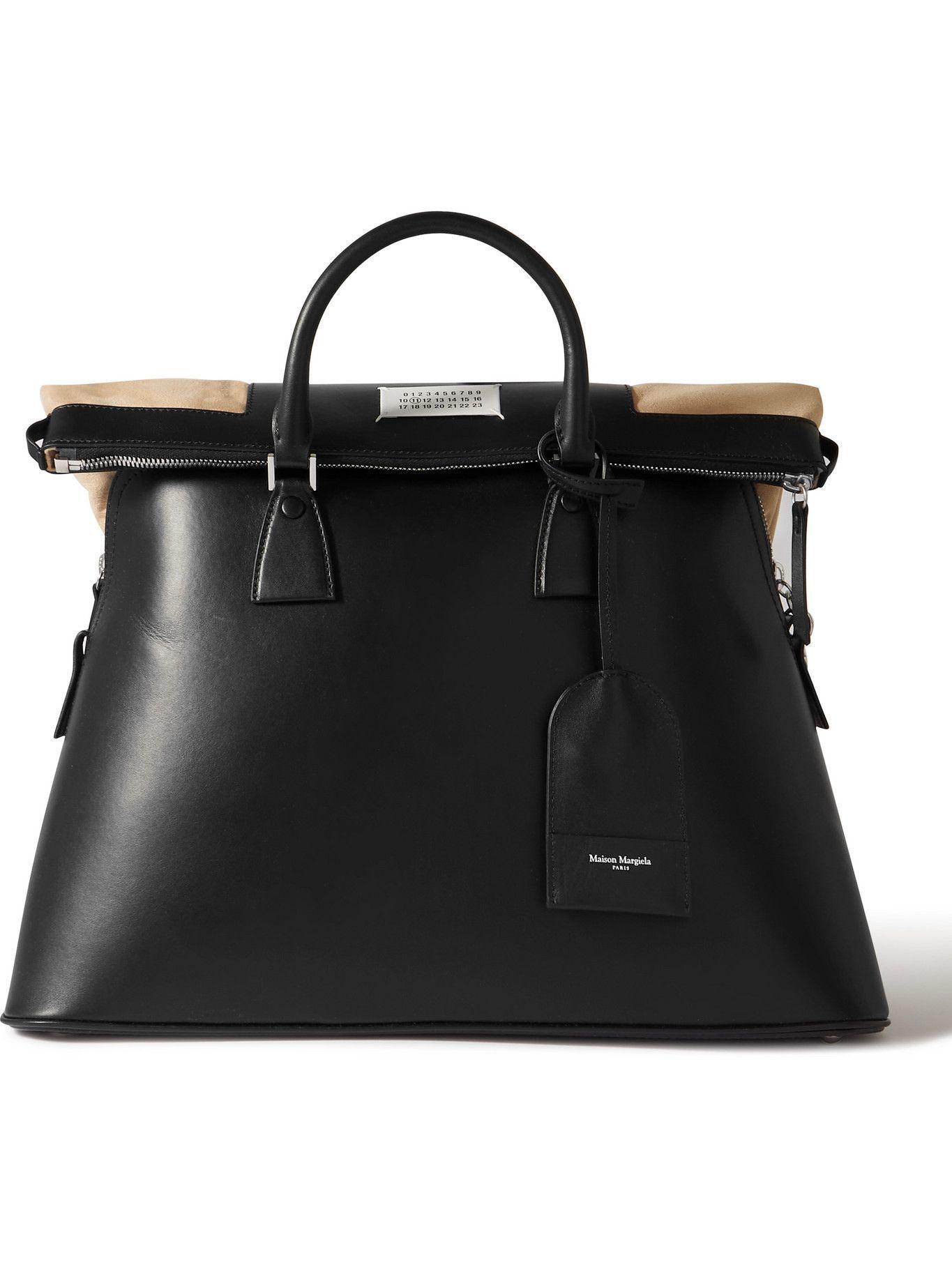 Photo: Maison Margiela - 5AC Logo-Appliquéd Leather and Suede Tote Bag