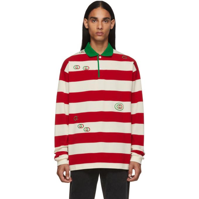 Photo: Gucci Red and White GG Stripe Polo