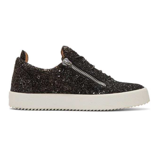 Photo: Giuseppe Zanotti Black Glitter May London Sneakers