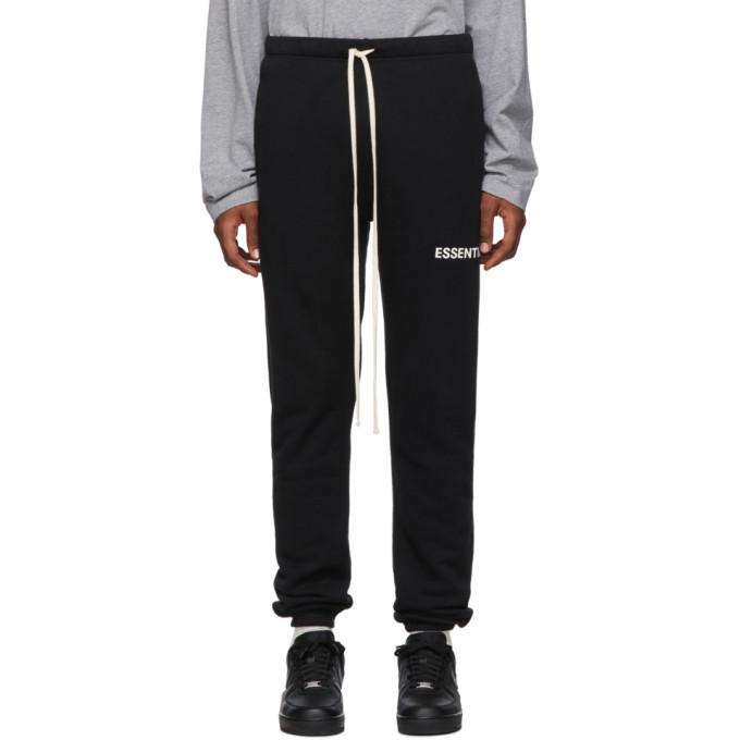 Photo: Essentials Black Fleece Lounge Pants