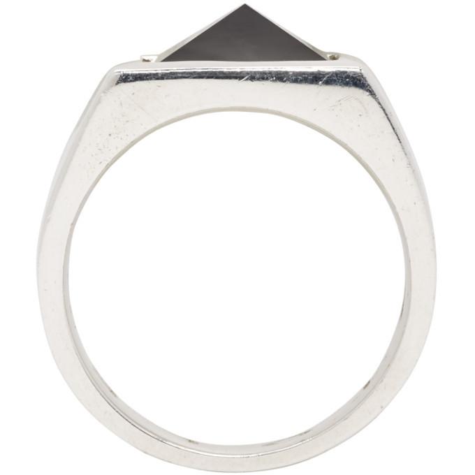Stolen Girlfriends Club Silver Pyramid Onyx Ring