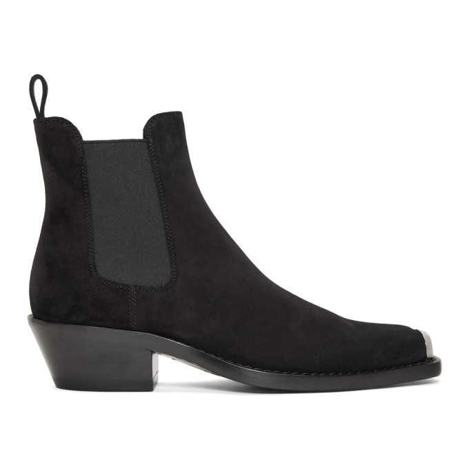 Photo: Calvin Klein 205W39NYC Black Suede Western Chris Crosta Boot