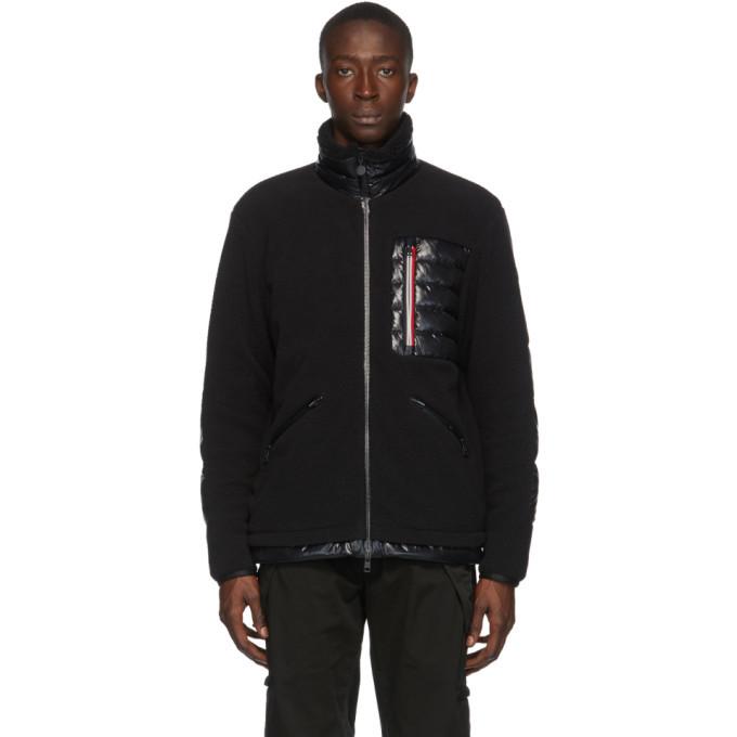 Photo: Moncler Black Down Sciablese Giubbotto Jacket