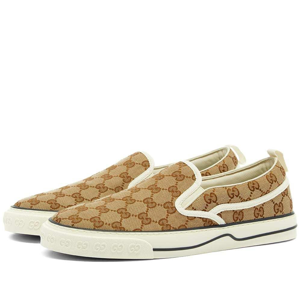 Photo: Gucci Tennis 1977 GG Slip On Sneaker