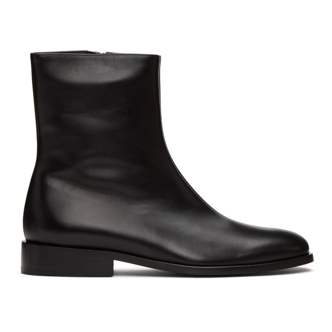 Photo: Dries Van Noten Black Leather Ankle Boots