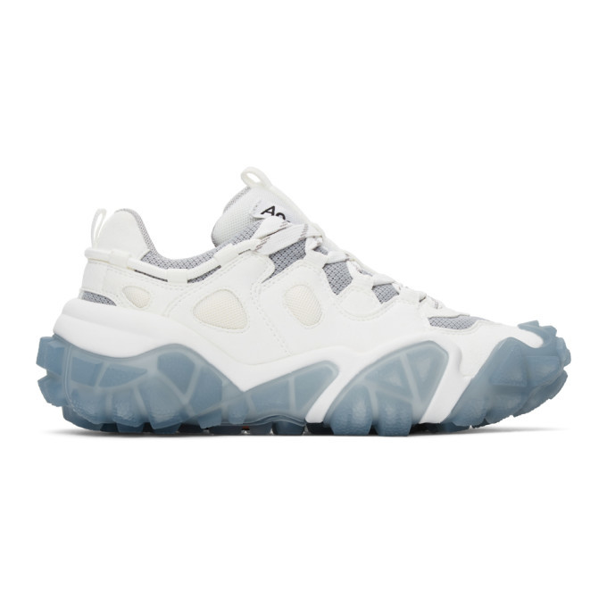 Photo: Acne Studios White and Blue Lace-Up Sneakers