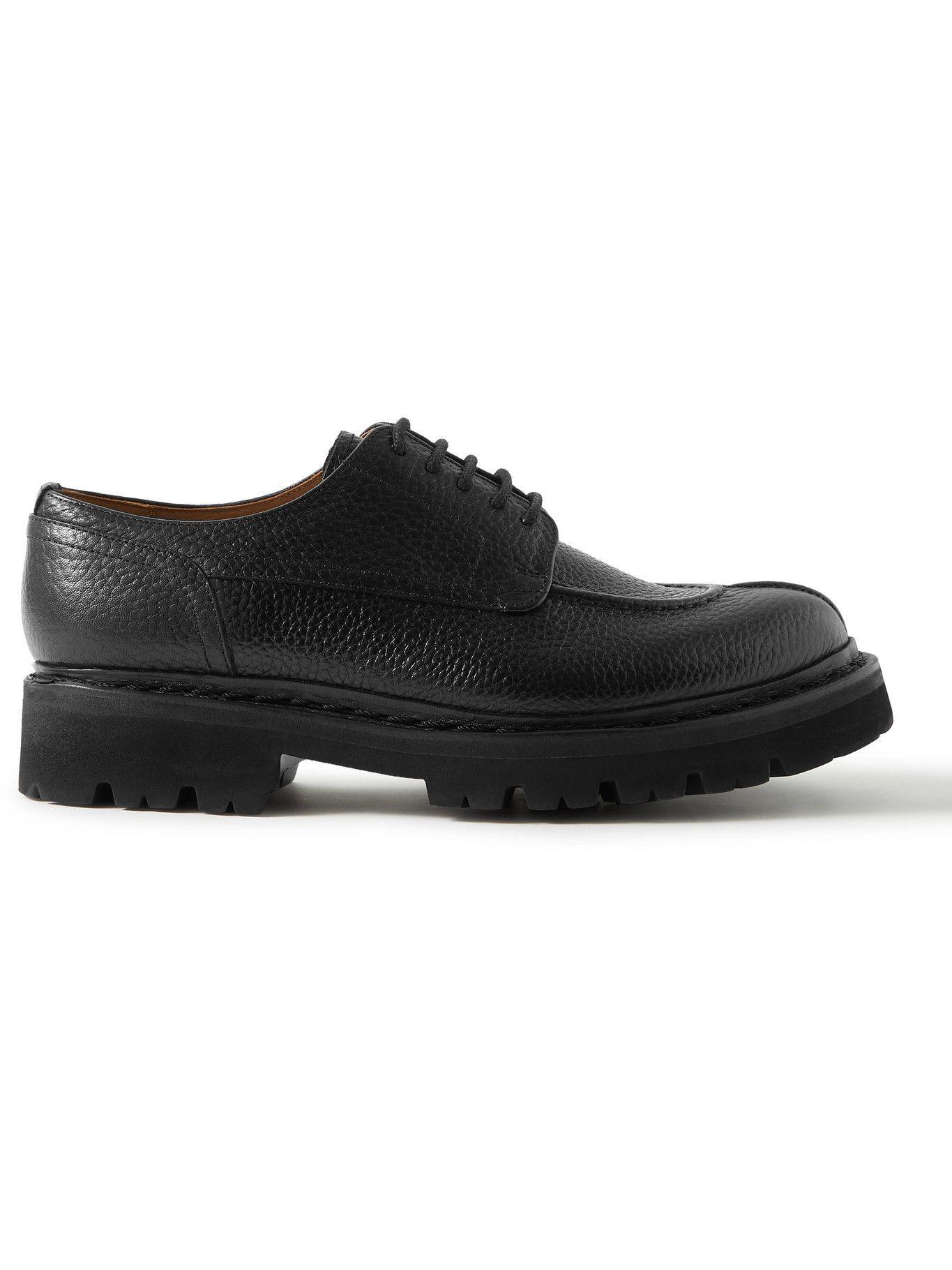 Photo: Grenson - Joel Full-Grain Leather Derby Shoes - Black