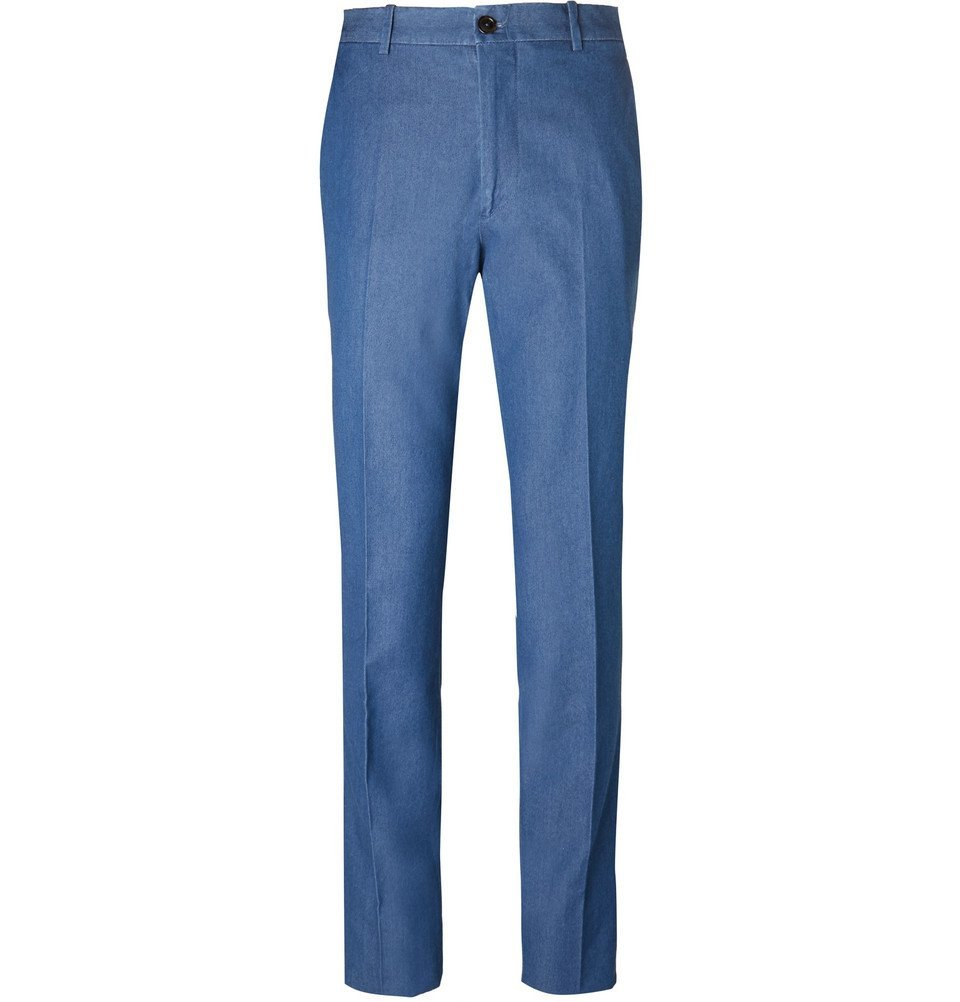 Tod's - Blue Washed-Denim Trousers - Blue