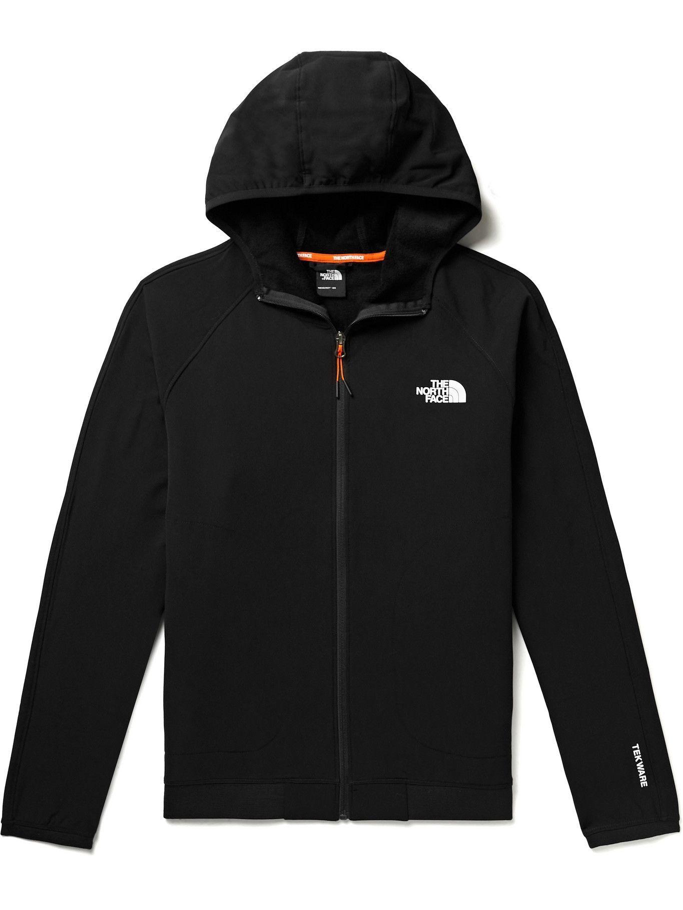 Photo: The North Face - Slim-Fit Logo-Print Tekware Zip-Up Hoodie - Black