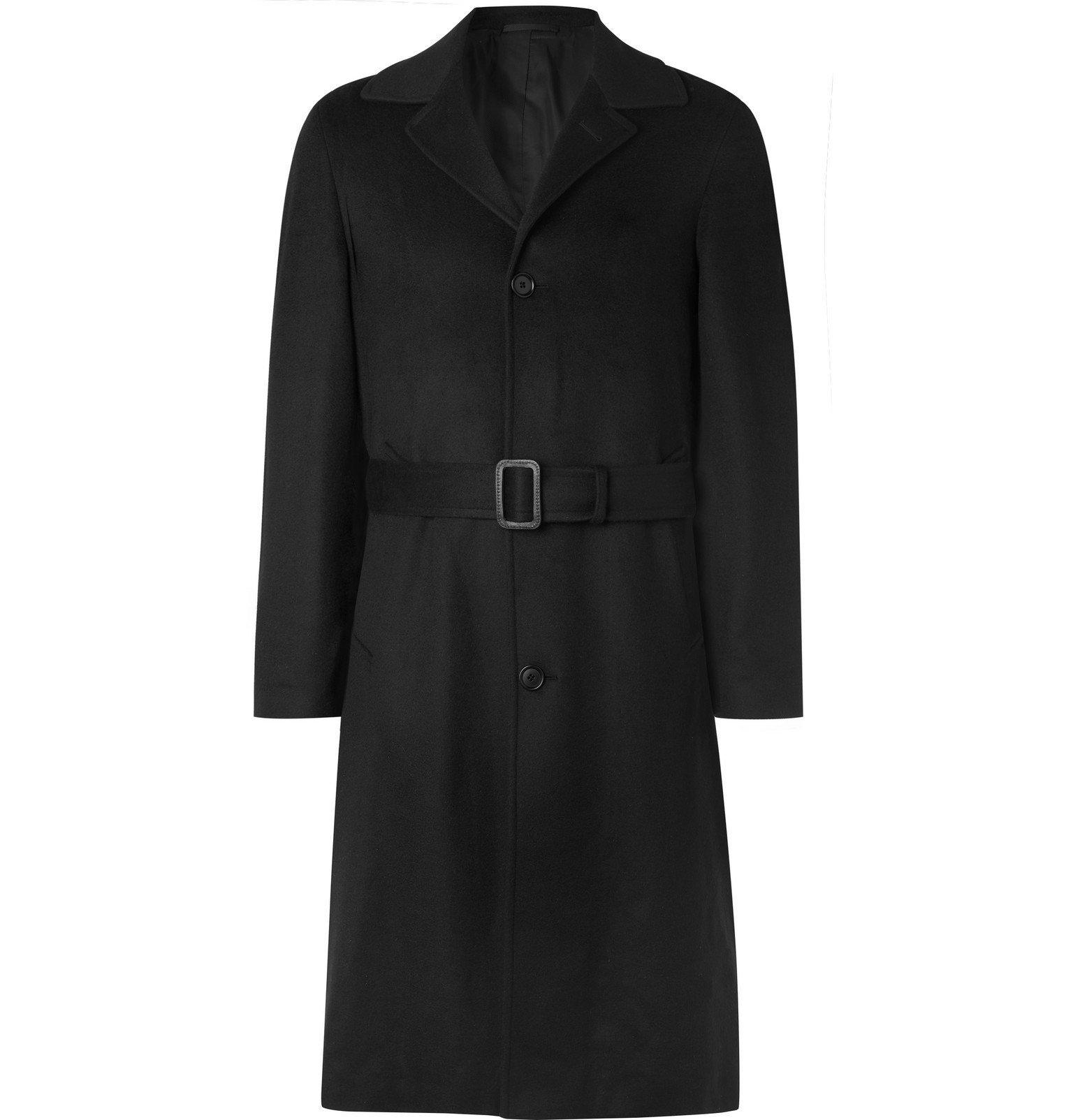 Saman Amel - Wool and Cashmere-Blend Coat - Black