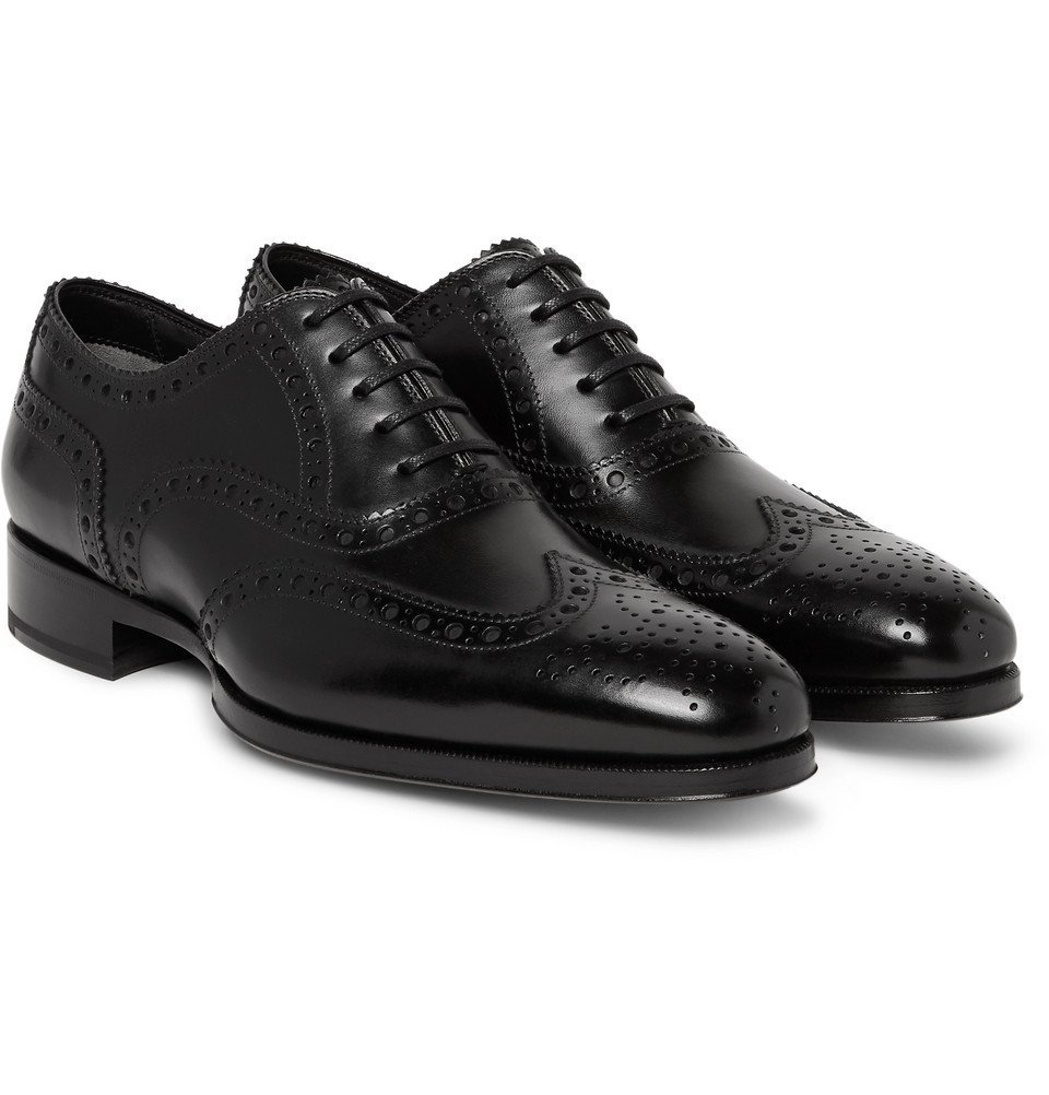 Photo: TOM FORD - Austin Leather Wingtip Brogues - Black