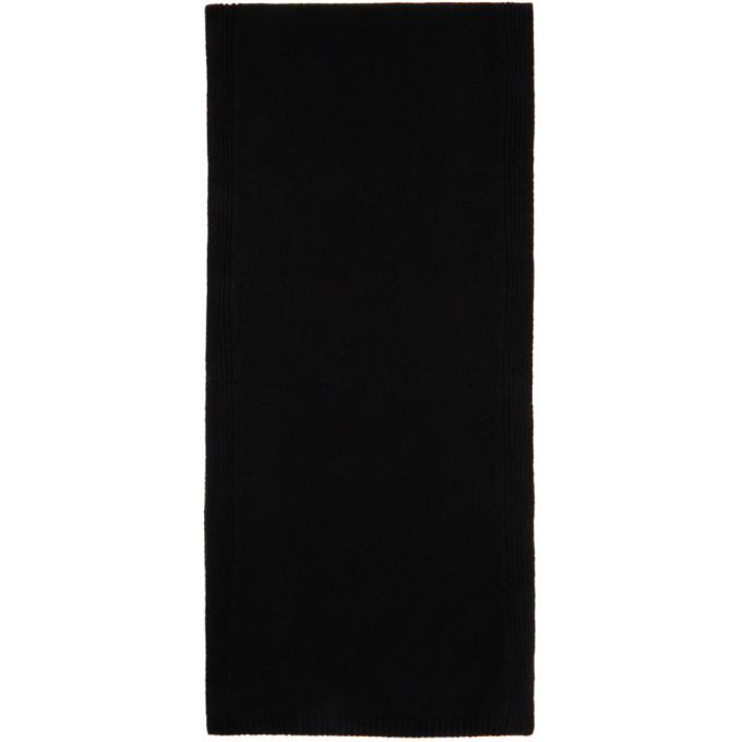 Photo: Rick Owens Black Cashmere Fisherman Scarf