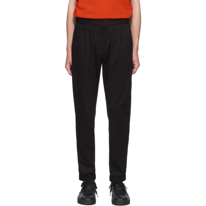 Photo: PS by Paul Smith Black Elasticized Waist Trousers