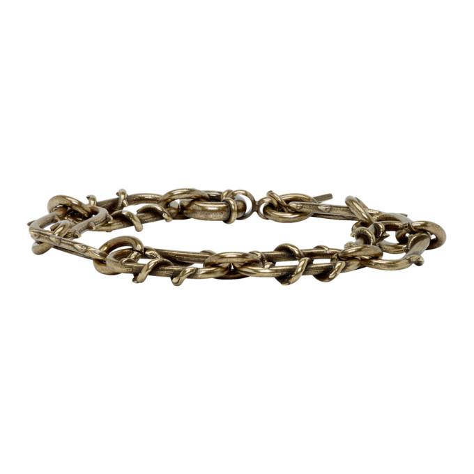Photo: Dsquared2 Brass Roses Chain Bracelet