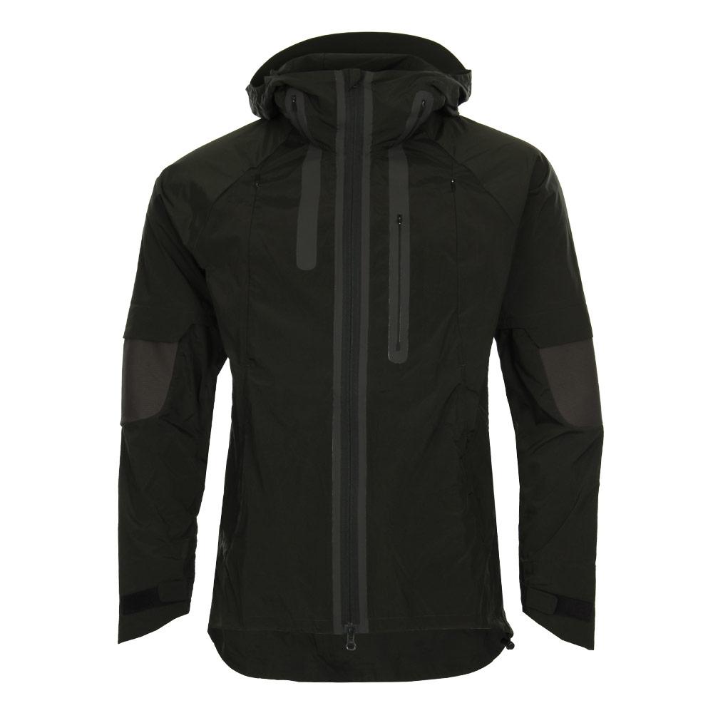 Photo: Nylon Hooded Jacket - Black/Olive