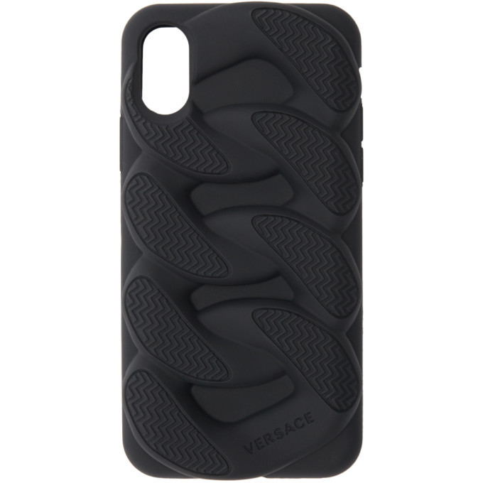 Photo: Versace Black Chain Reaction iPhone X Case