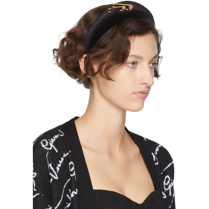 Versace Black Safety Pin Headband