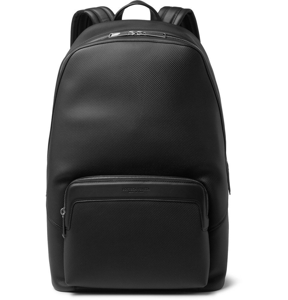 Photo: Bottega Veneta - Marco Polo Textured-Leather Backpack - Black