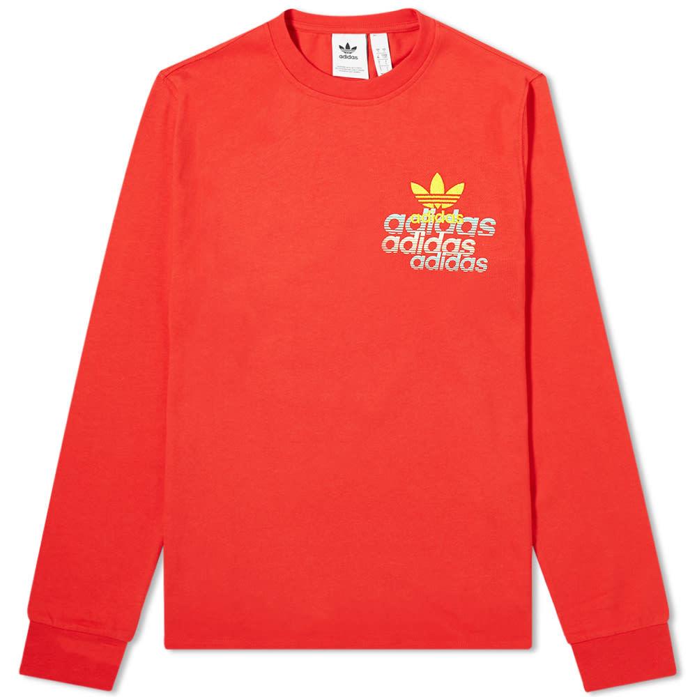 Adidas Long Sleeve Small Logo Tee