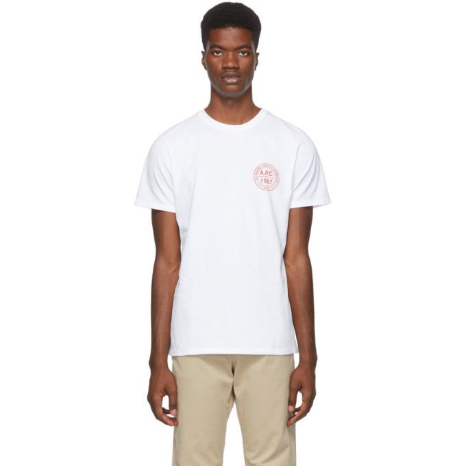 Photo: A.P.C. White Ollie T-Shirt