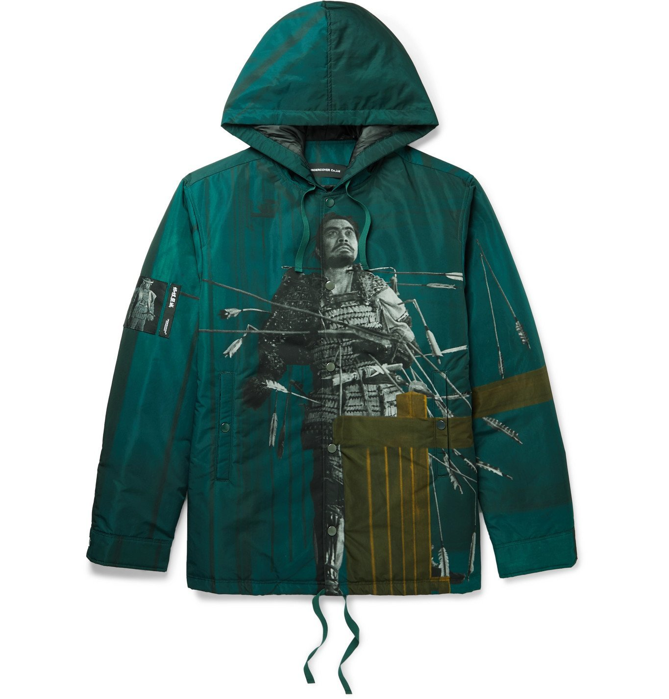 Photo: Undercover - Printed Padded Shell Hooded Jacket - Green