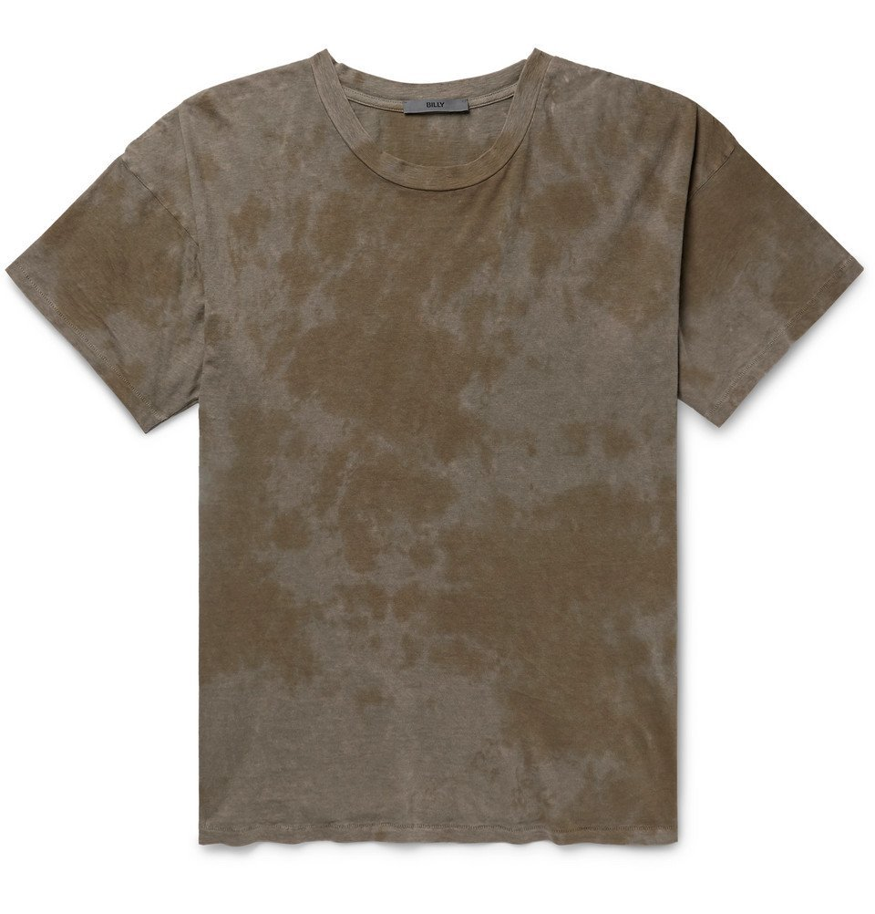 Photo: BILLY - Eastlake Tie-Dyed Cotton-Jersey T-Shirt - Gray