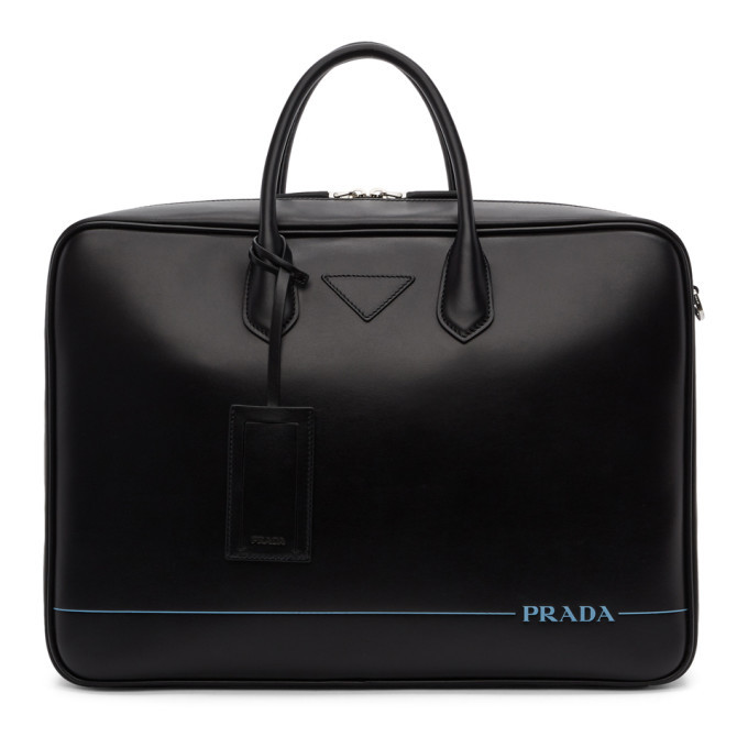 Photo: Prada Black Stripe Briefcase