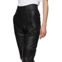 Stella McCartney Black Faux-Leather Alter Trousers