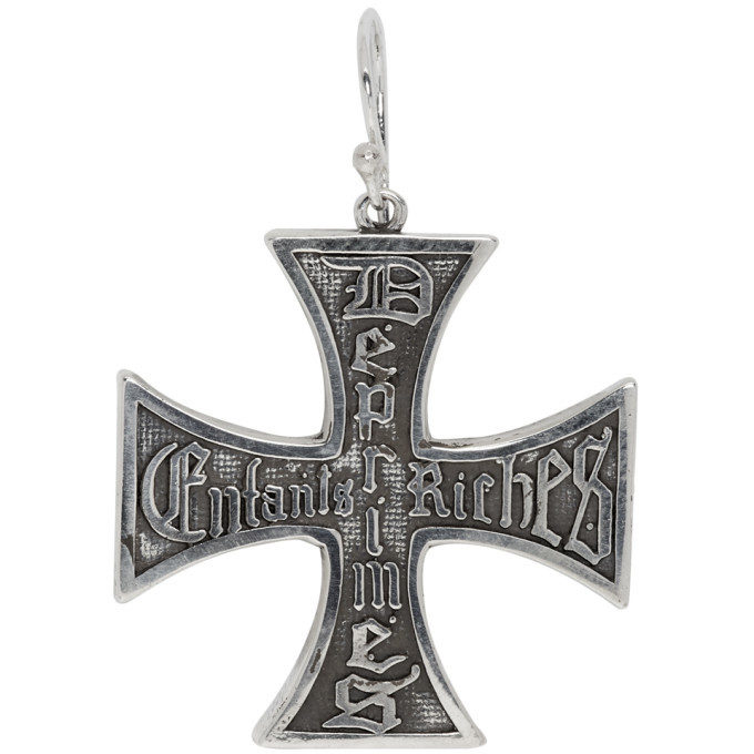 Photo: Enfants Riches Deprimes Silver Cross Earring
