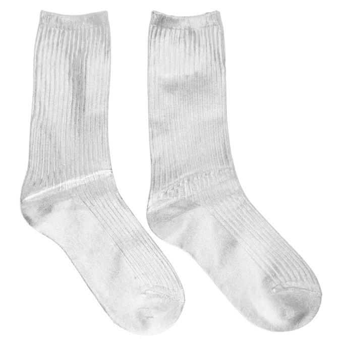 Acne Studios Silver Foil Socks