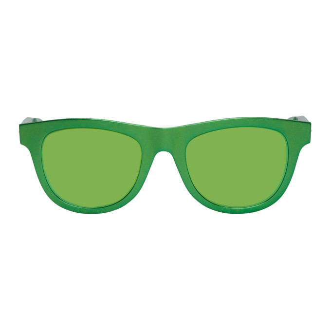 Photo: Bottega Veneta Green Aluminum Sunglasses