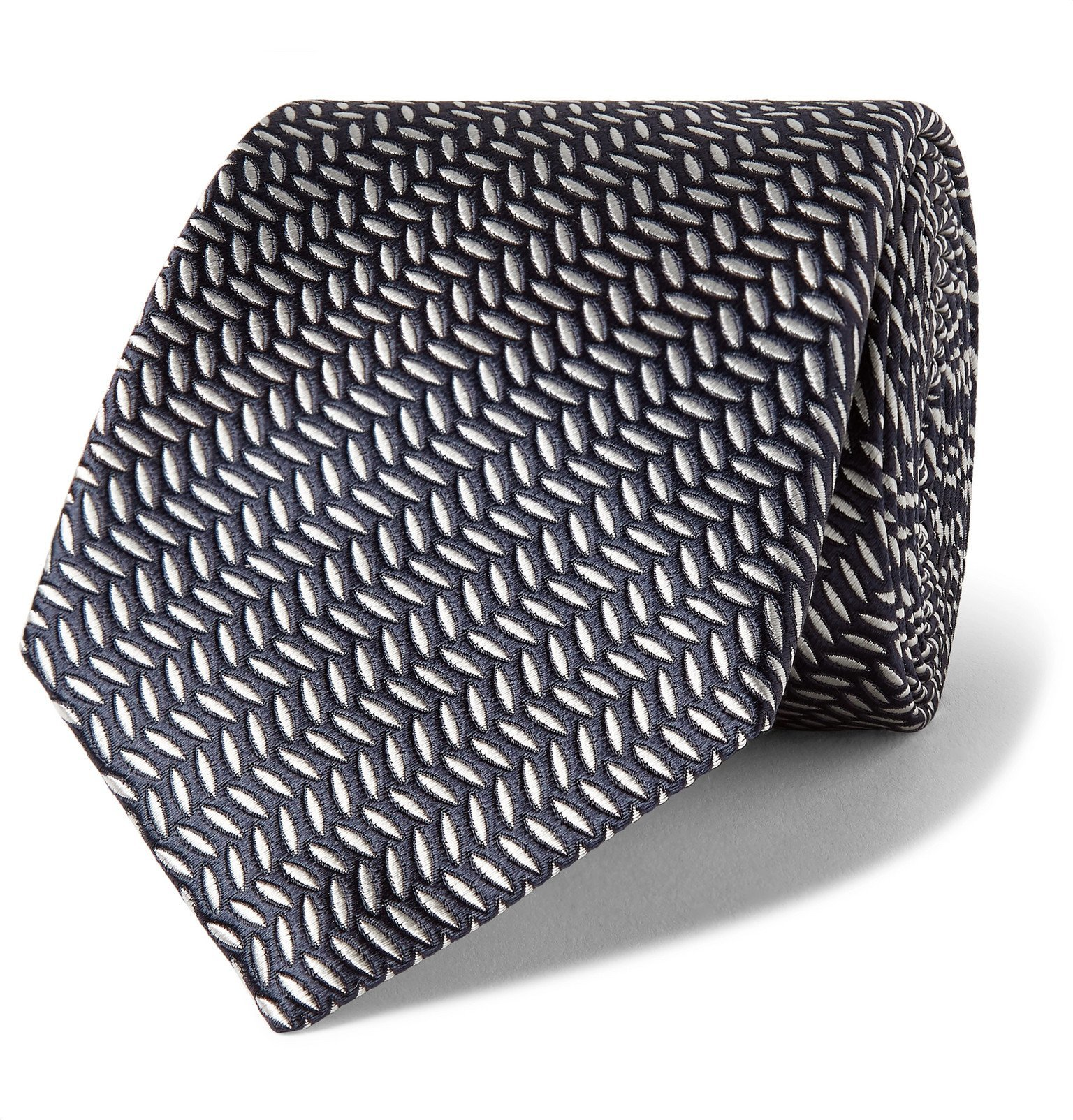 Photo: Canali - 8cm Silk-Jacquard Tie - Blue