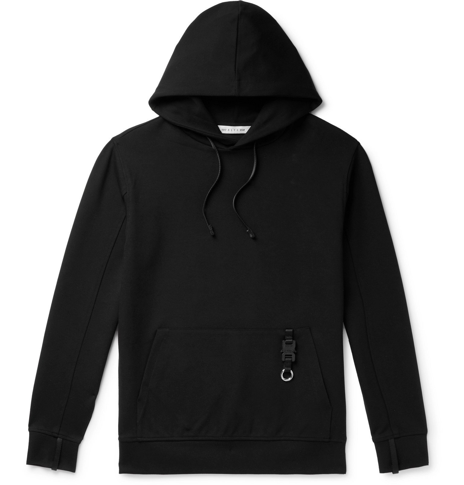 Photo: 1017 ALYX 9SM - Slim-Fit Stretch-Jersey Hoodie - Black