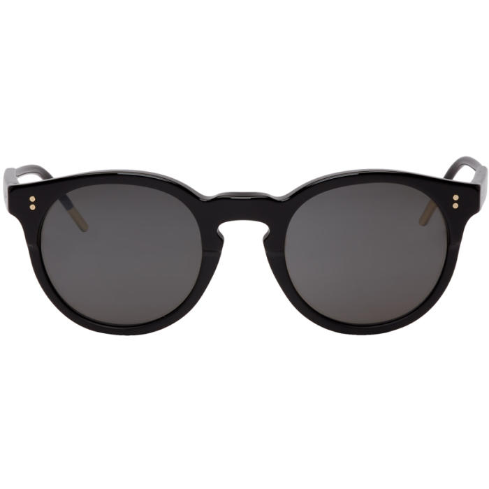 Photo: Dolce and Gabbana Black Round Sunglasses