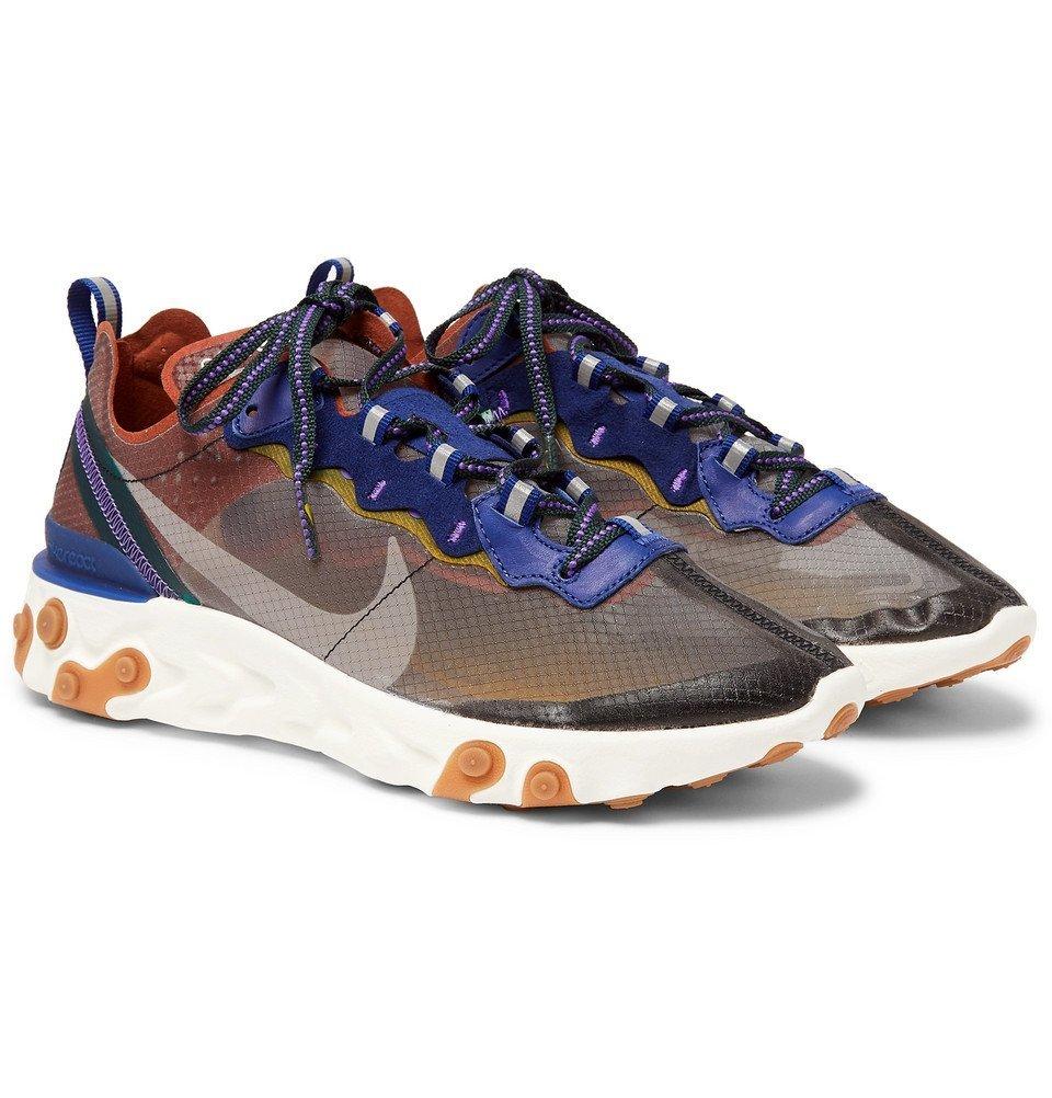 4b172c1d1ee7 Nike - React Element 87 Ripstop Sneakers - Gray Nike