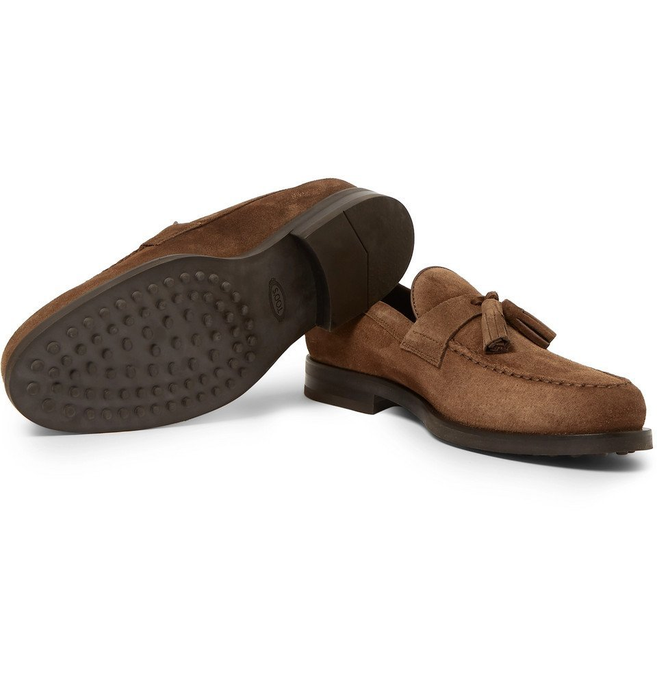 Tod's - Suede Tasselled Loafers - Brown