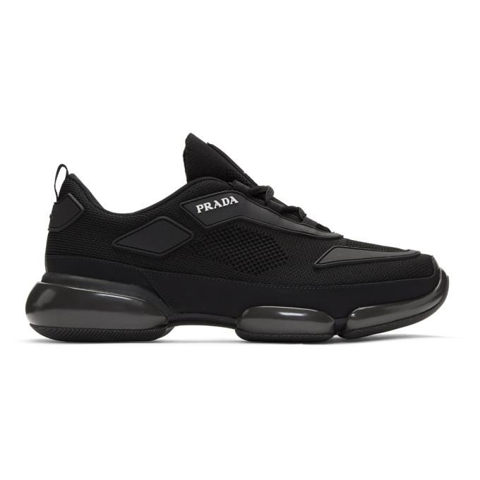Photo: Prada Black Sport Wedge Sneakers