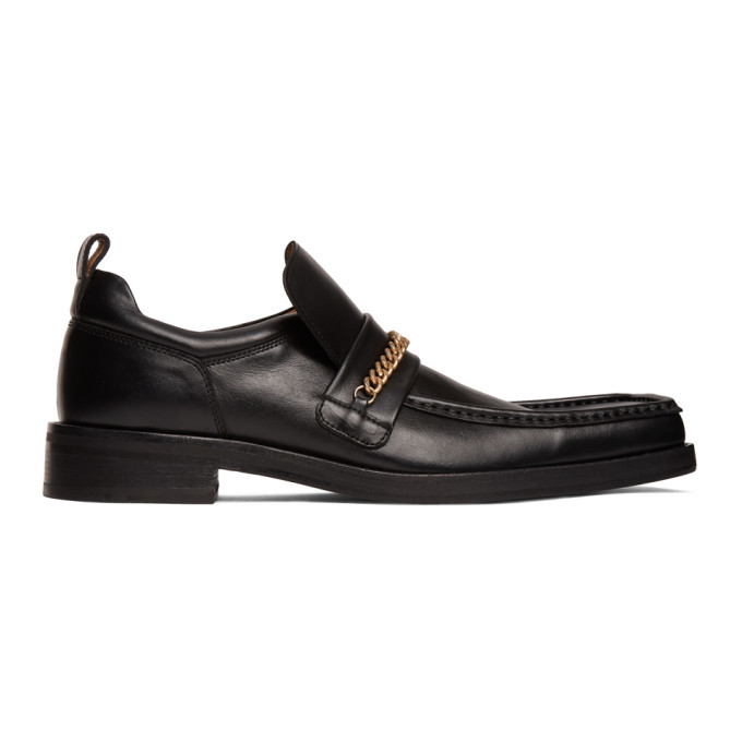 Photo: Martine Rose Black Square Toe Boot Loafers