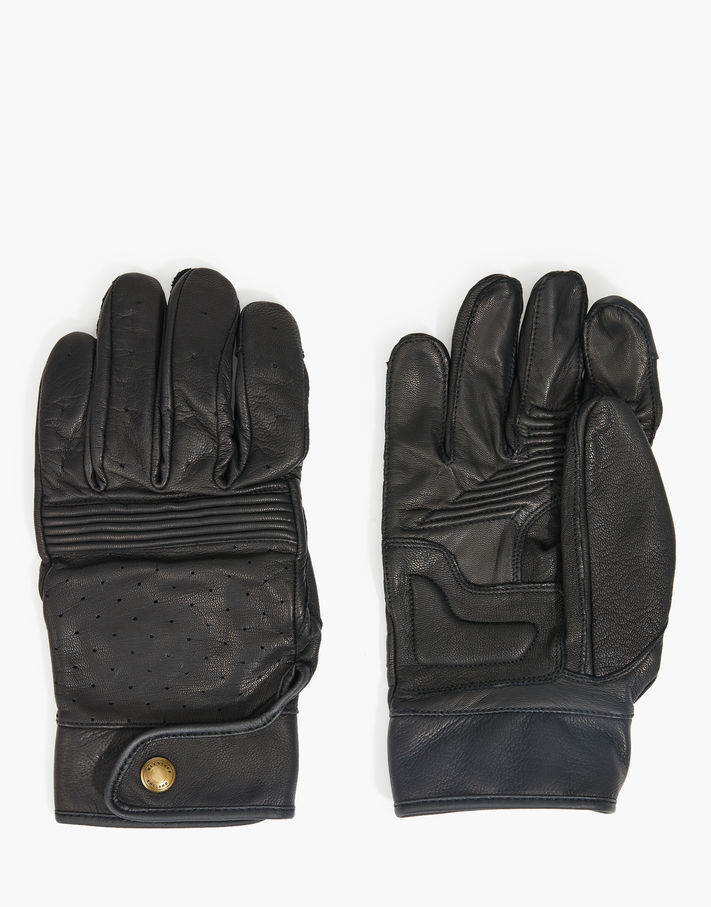 Photo: Belstaff Montgomery Motor Gloves Black