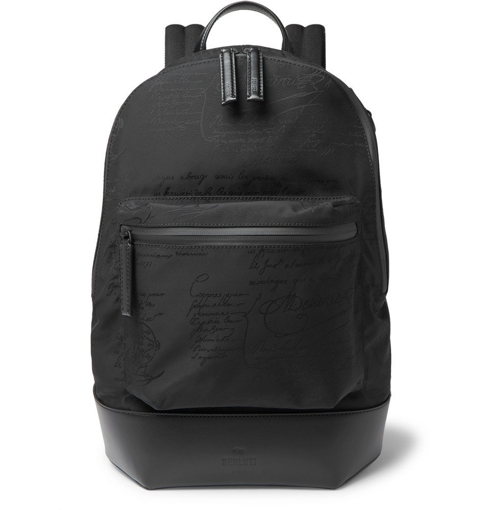 Photo: Berluti - Volume Leather-Trimmed Nylon Backpack - Black