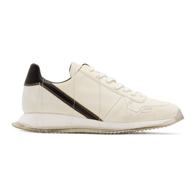Photo: Rick Owens Off-White Vintage Runner Sneakers