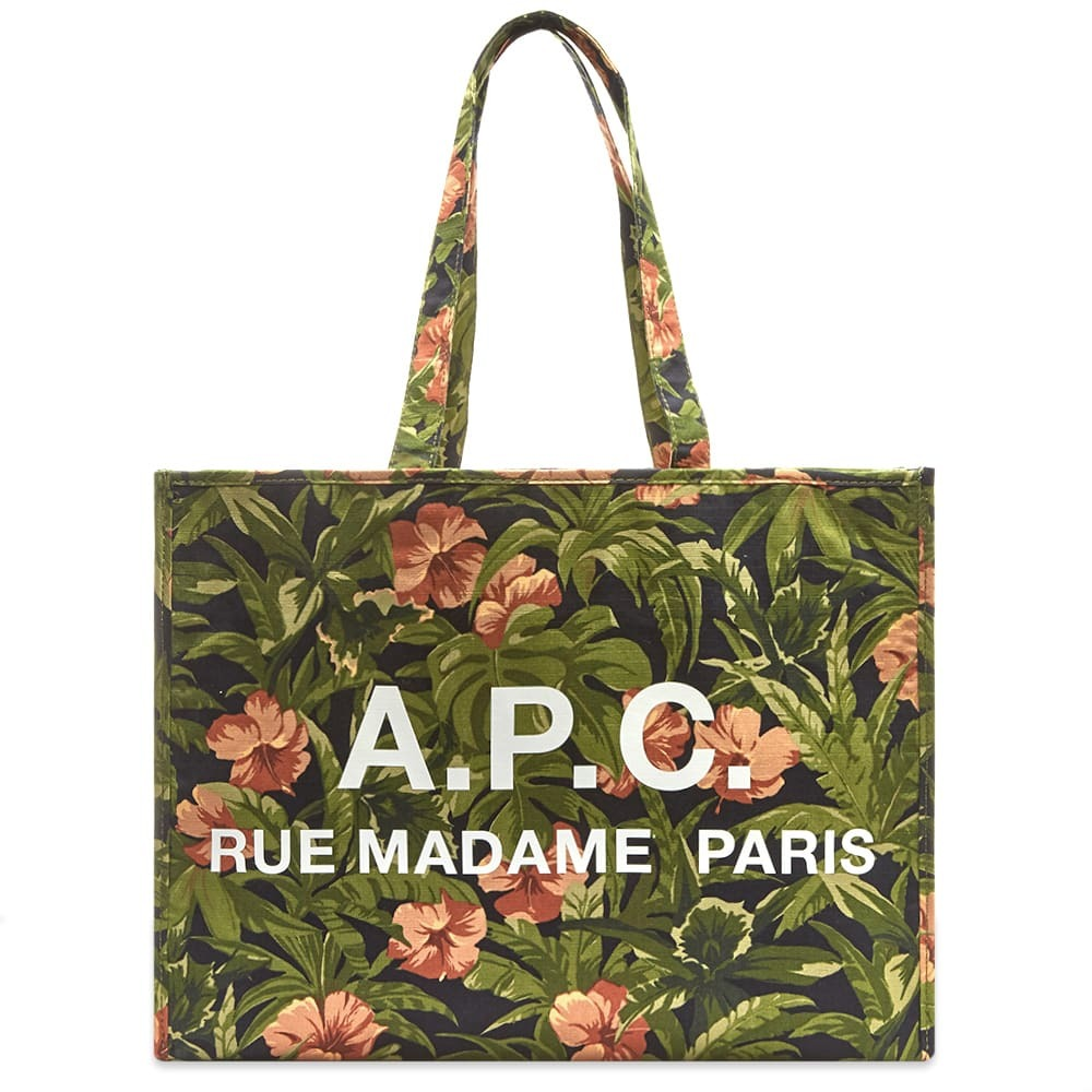 Photo: A.P.C. Floral Print Logo Shopper Bag