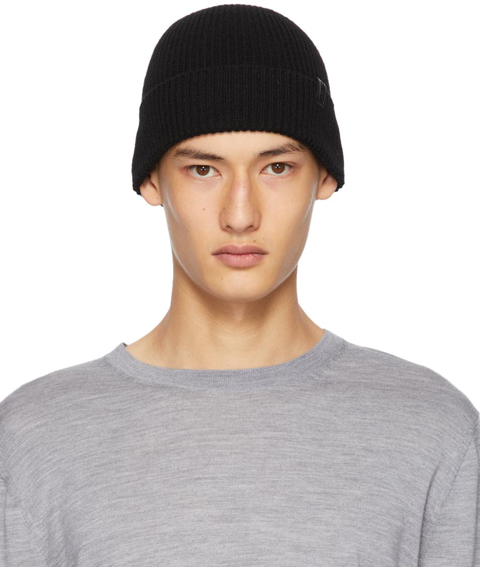 Giorgio Armani Black Cashmere Beanie