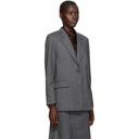 3.1 Phillip Lim Grey Wool Flannel Tailored Blazer