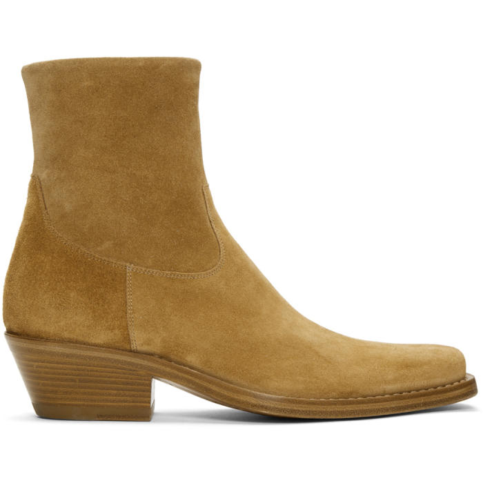 Photo: Calvin Klein 205W39NYC Tan Suede Western Tod Boots