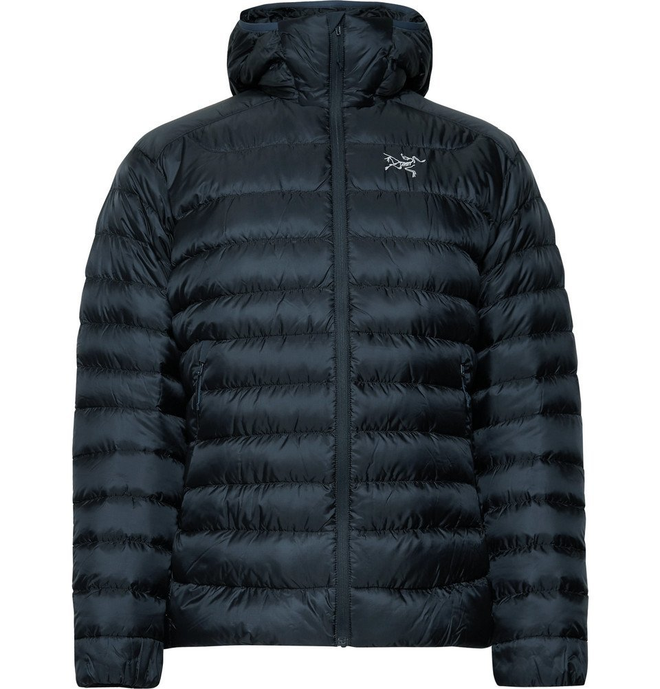 Photo: Arc'teryx - Cerium LT Quilted Ripstop Hooded Down Jacket - Men - Storm blue