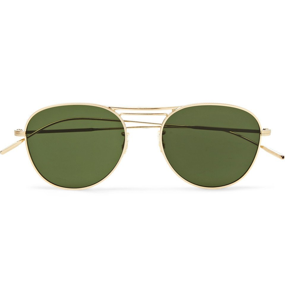 Oliver Peoples - Cade Aviator-Style Gold-Tone Sunglasses - Men - Gold
