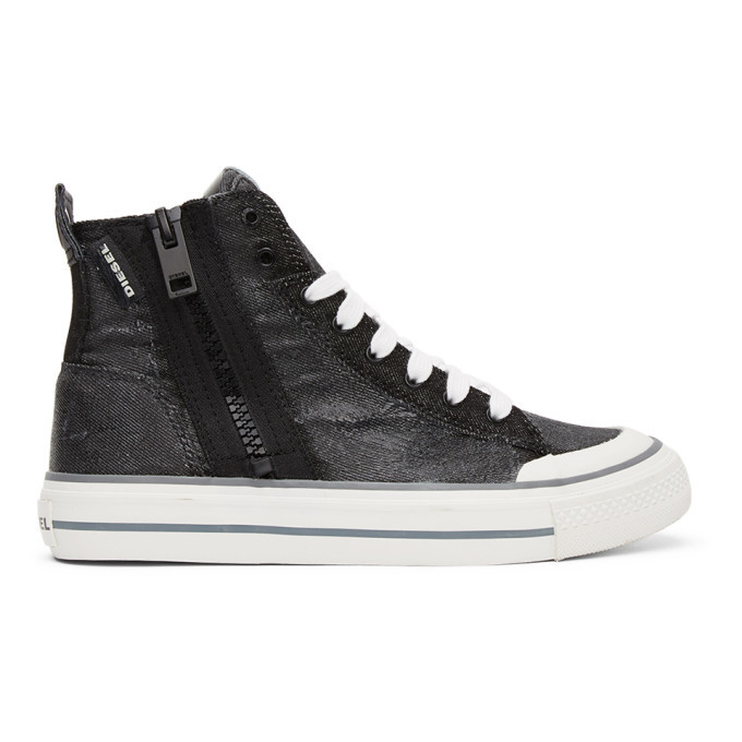 Photo: Diesel Black S-Astico Denim Sneakers