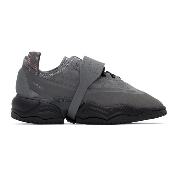 Photo: OAMC Grey adidas Originals Edition Type O-1 Sneakers